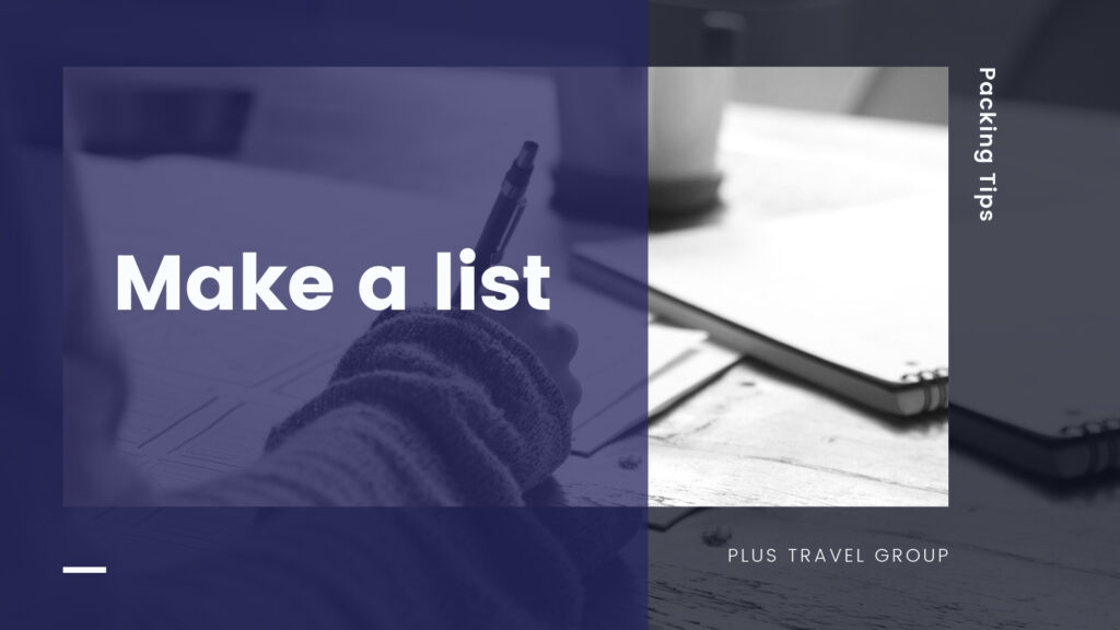 make a list packing tip