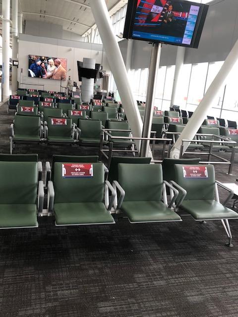 airport seat spacing